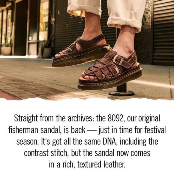 Dr. Marten Archive Fisherman Leather Sandals 14M